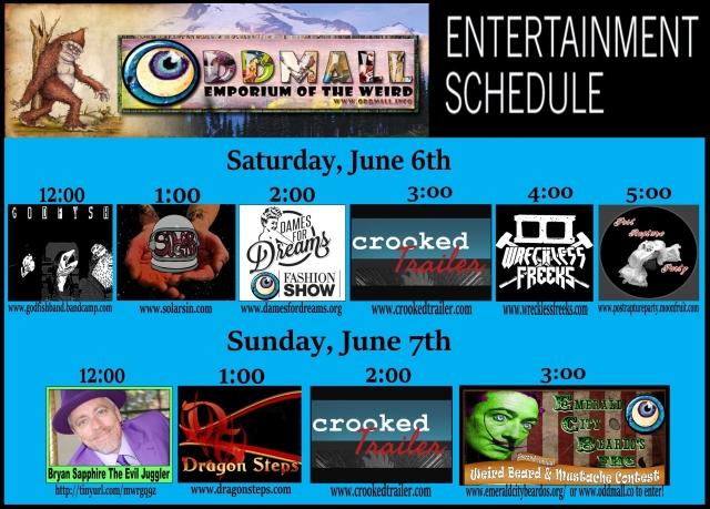 entertainment schedule June 2015