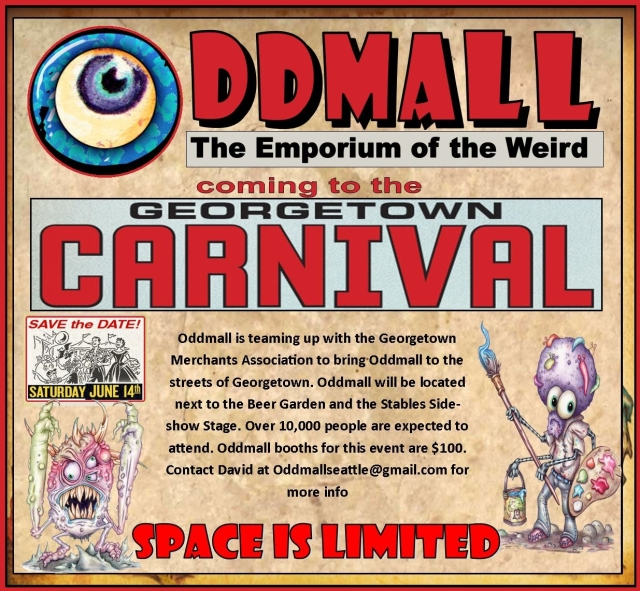 Oddmall is coming to the Georgetown Carnival. Booths available now while they last!