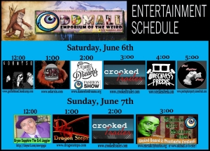 entertainment schedule June 2015
