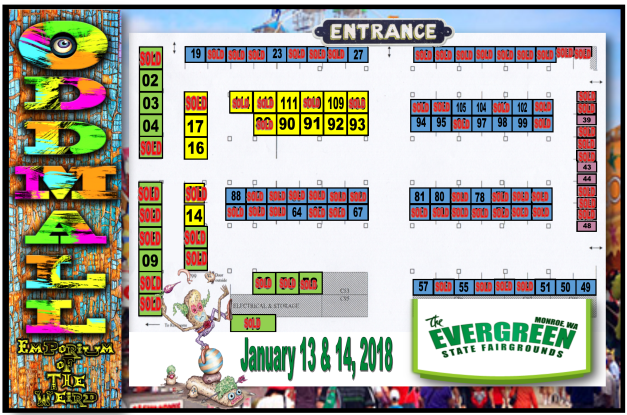 Commercial Building Map with booths