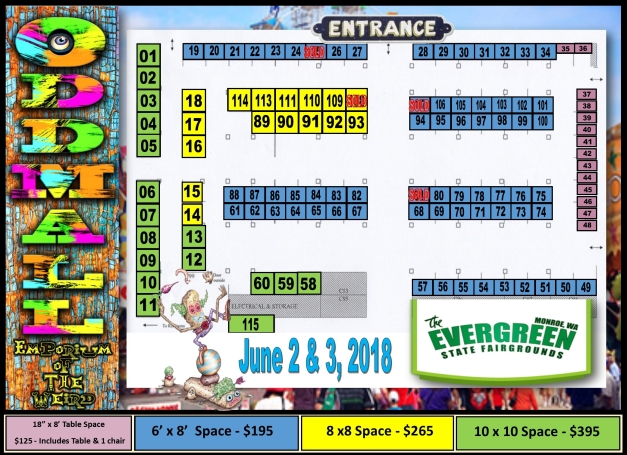 Commercial Building Map with booths June 2018